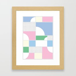 Geometric Calendar - Day 50 Framed Art Print