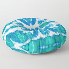 Tie-Dye Twos Aqua Floor Pillow