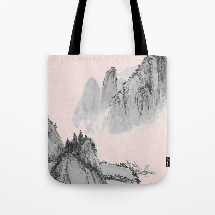 Mist mountain Tote Bag
