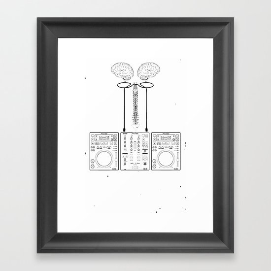 The Pioneer (CDJ Quick Connect Manual) Framed Art Print