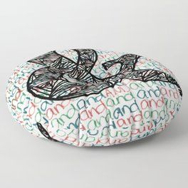And Ampersand Floor Pillow