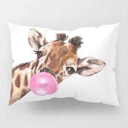 Bubble Gum Sneaky Giraffee Pillow Sham