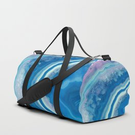 Teal and violet agate Duffle Bag