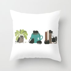 CATS + THINGS Throw Pillow