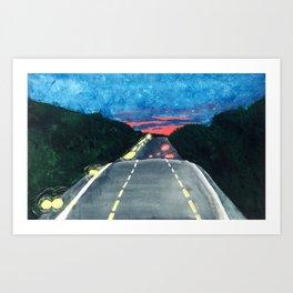 Georgia Drive Art Print