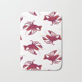 Le Lobster Rouge Bath Mat