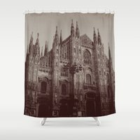 milan Shower Curtains featuring Milan Duomo, Milan by Albert Tjandra