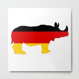 German Flag - Rhino Metal Print