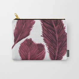 Feather Collection - bordeux Carry-All Pouch