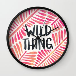 Wild Thing – Pink Ombré & Black Palette Wall Clock