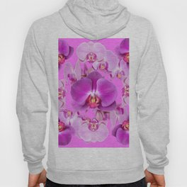 Ornate Pink & Purple  Butterfly Orchids Hoody
