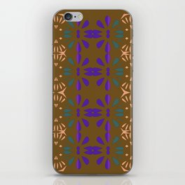 Luxury vint. Ornamnets on brown iPhone Skin