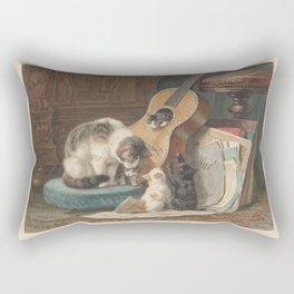 Henriëtte Ronner - The musicians Rectangular Pillow