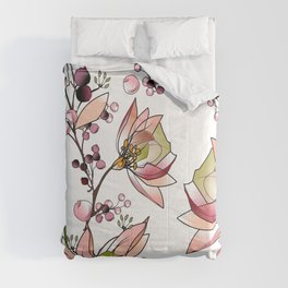 Transparent flowers Comforters