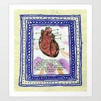 Framed Heart Art Print