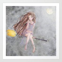 Evil Eye Witch Art Print