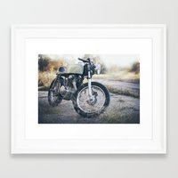 cafe racer Framed Art Prints featuring Cafe Racer by Joey Gessner