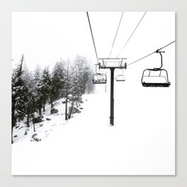 Into the White Canvas Print