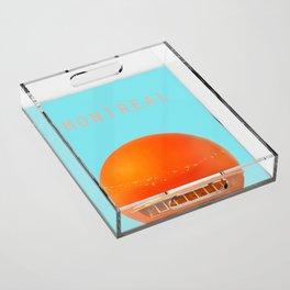 MONTREAL PASTEL Orange Julep Acrylic Tray