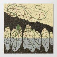 hawaiian Canvas Prints featuring first hawaiian by thefleafarm (Amy Wright)