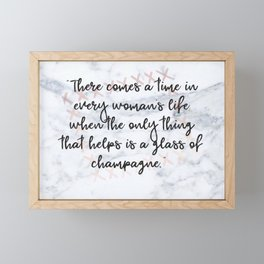 Champagne love Framed Mini Art Print