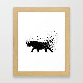 Save the Rhinos fading away Framed Art Print