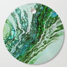 Green blue rivers Cutting Board