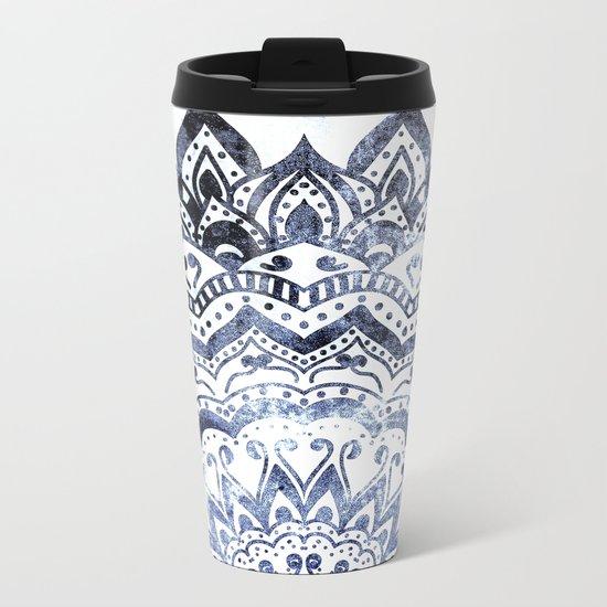 BLUE ORION JEWEL MANDALA Metal Travel Mug