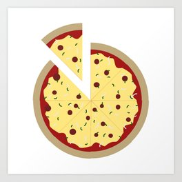 Pizza Time Art Print