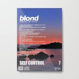 Frank Blond Vintage Self Control Metal Print