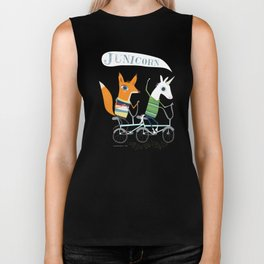 Junicorn and Fausto Fox Biking Tee Biker Tank
