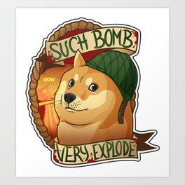 "Cs:go : sticker ""Bomb doge"" Art Print"