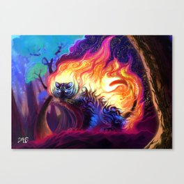 Fire tiger Canvas Print