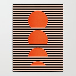 Abstraction_SUNSET_LINE_ART_Minimalism_001 Poster
