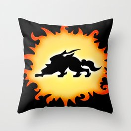 Amaterasu Logo- Black Throw Pillow