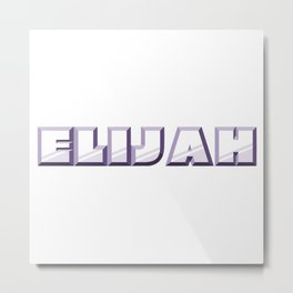 """ELIJAH"" first name purple pattern Metal Print"
