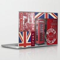 british flag Laptop & iPad Skins featuring Very British by LebensART