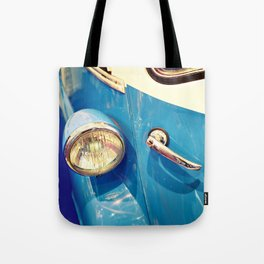 Headlight and handle door of vintage car Tote Bag