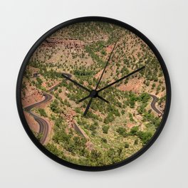 Mt. Carmel Highway's Twists & Turns - Zion National Park, Utah Wall Clock