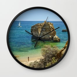 Algarve rock Wall Clock