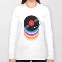 vinyl Long Sleeve T-shirts featuring Vinyl by jun salazar