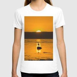 Golden Scotland - Heron on a Rock T-shirt