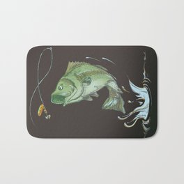 Bass Jumping At Night Bath Mat