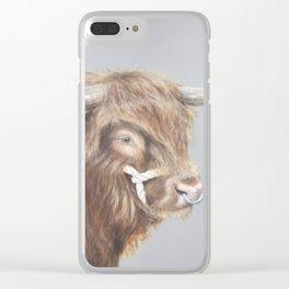 Bulls Eye Clear iPhone Case