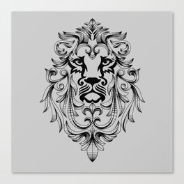 Heraldic Lion Head Canvas Print