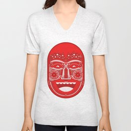 Red Is Mad Unisex V-Neck