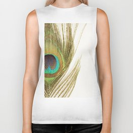 Peacock Feather Biker Tank