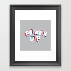 Power Up Framed Art Print