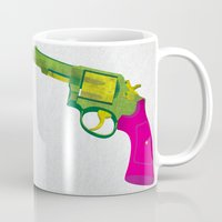 guns Mugs featuring Play Guns by kakin