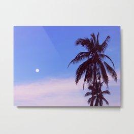 Tropical evening moon Metal Print
